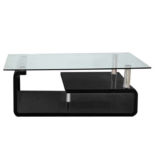 Hollandale Coffee Table with Storage Mercury Row Frame Colour: Black