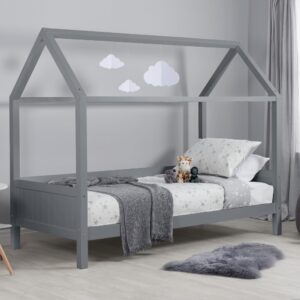 Home Grey Wooden Treehouse Bed Frame - 3ft Single