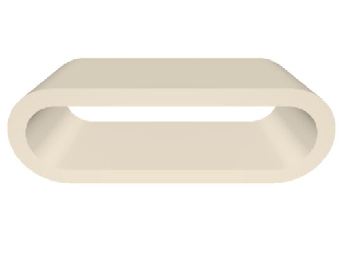 Hoop Coffee Table Brayden Studio Size: H36 x W110 x D41cm, Colour: Cream Gloss