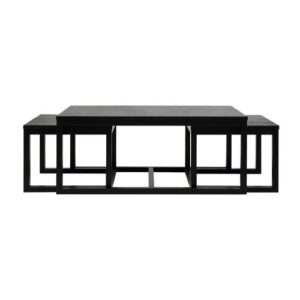 Howse 3 Piece Coffee Table Set Wrought Studio Finish: Black