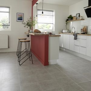 Ideal Grey Matt Marble effect Ceramic Floor Tile Sample