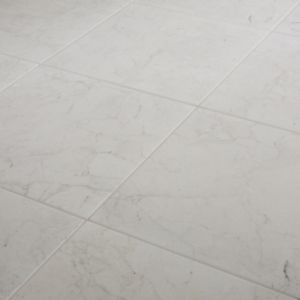 Ideal White Matt Marble effect Ceramic Floor Tile Sample