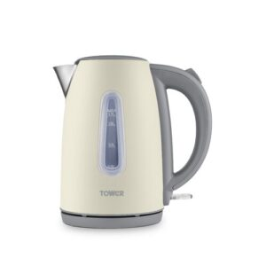 Infinity Stone 1.7L Stainless Steel Electric Kettle Tower Colour: Pebble