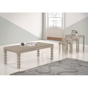 Io Coffee Table Marlow Home Co. Colour: Rose Gold