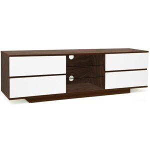 "Isakson TV Stand for TVs up to 65"" Brayden Studio Colour: Walnut/White"