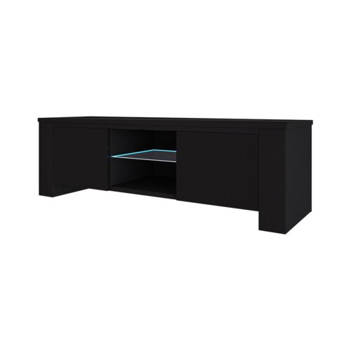 "Jackson TV Stand for TVs up to 55"" Selsey Living Colour: Black"