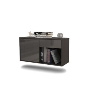 Jacksonville TV Stand Ebern Designs Colour: High Gloss Grey