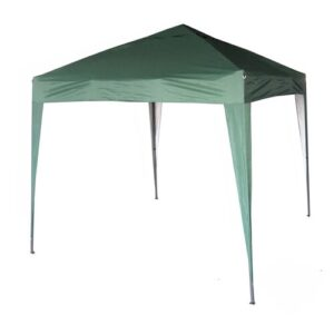 Janvey 2m x 2m Aluminium Pop-Up Gazebo Sol 72 Outdoor Roof Colour: Green