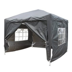Jarrow 3m x 3m Aluminium Pop-Up Gazebo Sol 72 Outdoor Roof Colour: Grey