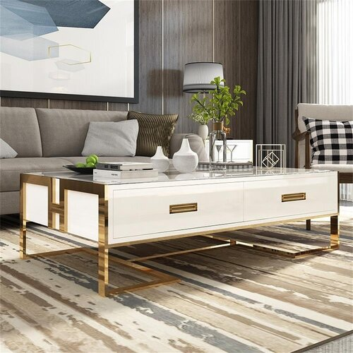 Jenkinsburg Coffee Table with Storage Canora Grey