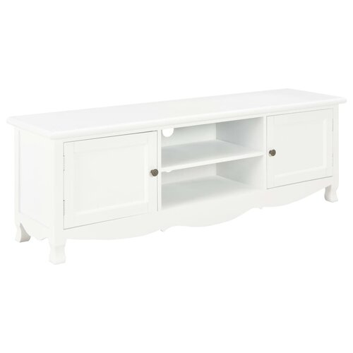 """Jessee TV Stand for TVs up to 49"""" Brambly Cottage Colour: White"""