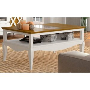 Jillian Coffee Table August Grove Finish: Distressed White/Brown