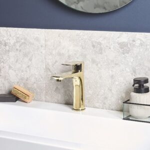 Juliaetta Mono Basin Mixer Belfry Bathroom Finish: Gold