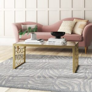 Juliette Coffee Table CosmoLiving by Cosmopolitan Table Base Colour: Gold