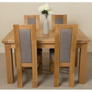 Kenia Dining Set with 4 Chairs Rosalind Wheeler Table Size: 78cm H x 140cm L x 90cm W