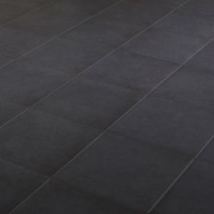 Konkrete Black Matt Plain Porcelain Floor Tile Sample