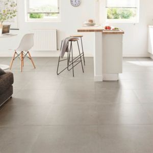 Kontainer Medium grey Matt Concrete effect Porcelain Floor Tile Sample