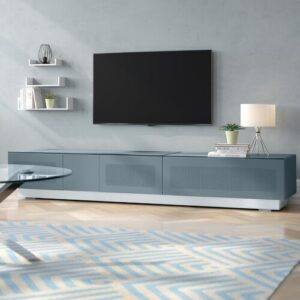 "Krystyna TV Stand for TVs up to 88"" Wade Logan Colour: Grey"