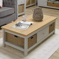 LPD Furniture πpe; Cotswold Coffee Table Grey