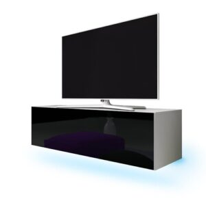 "Lana TV Stand for TVs up to 55"" Selsey Living Colour: White Matt/Black Gloss"