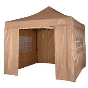Lawrence 3m x 3m Metal Pop-Up Gazebo Sol 72 Outdoor Colour: Beige