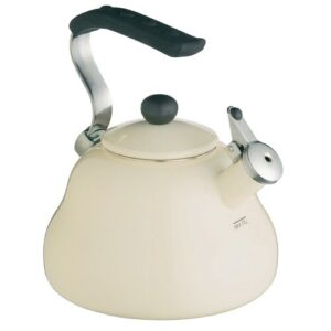 Le'Xpress 2L Stainless Steel Whistling Stove Top Kettle in Cream KitchenCraft