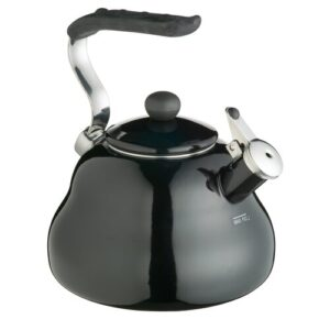 Le'Xpress Coloured 2 Litres Whistling Kettle in Midnight Black KitchenCraft