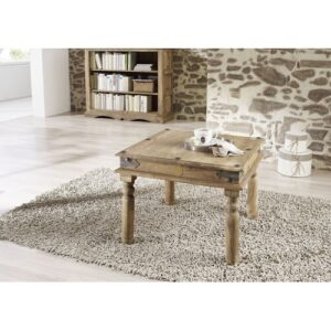 Leeds Coffee Table Massivmoebel24 Size: 46 cm H x 60 cm W x 60 cm D