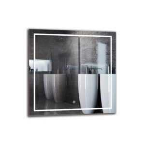 Loudon Bathroom Mirror Metro Lane Size: 60cm H x 60cm W