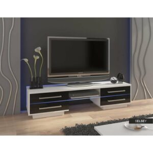 """Louis TV Stand for TVs up to 55"""" Selsey Living Colour: White/Black, LED: Yes"""