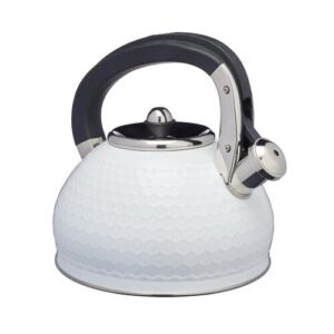 Lovello 2.5L Stainless Steel Whistling Stovetop Kettle KitchenCraft Colour: Ice White
