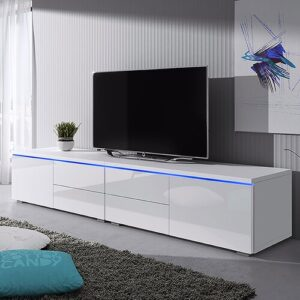 """Luv Double TV Stand for TVs up to 88"""" Selsey Living Finish: White Matte / White Gloss"""