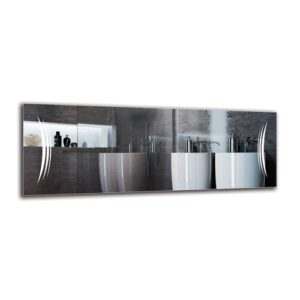 Magna Bathroom Mirror Metro Lane Size: 40cm H x 110cm W
