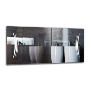 Magna Bathroom Mirror Metro Lane Size: 40cm H x 80cm W