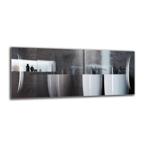 Magna Bathroom Mirror Metro Lane Size: 50cm H x 120cm W
