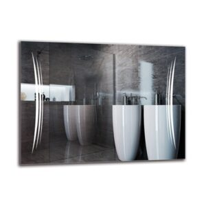 Magna Bathroom Mirror Metro Lane Size: 60cm H x 80cm W