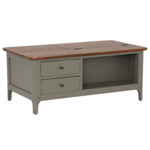 Maison 2 Drawer Coffee Table, Albany And Moss Grey