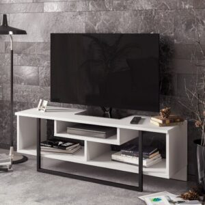 "Manderella TV Stand for TVs up to 50"" Blue Elephant Colour: White"