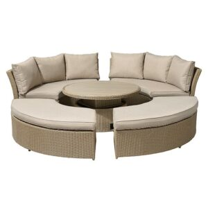 Maness Garden Sofa with Cushions Sol 72 Outdoor Colour: Willow