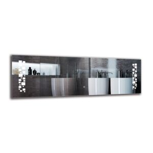 Manug Bathroom Mirror Metro Lane Size: 40cm H x 120cm W