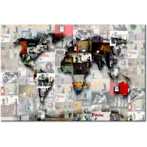 'Map' Graphic Art on Wrapped Canvas East Urban Home