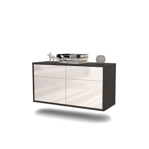 Martindell TV Stand Ebern Designs Colour: High Gloss White