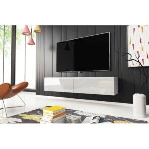 """McCallie TV Stand for TVs up to 60"""" Ebern Designs Colour: High Gloss White"""