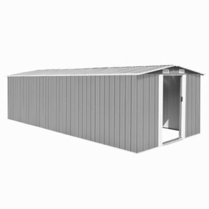 Mclane 8 ft. W x 10 ft. D Metal Garden Shed Sol 72 Outdoor Colour: Grey