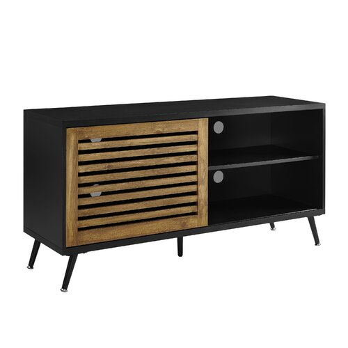 """Mcquillen TV Stand for TVs up to 65"""" Wrought Studio Colour: Black"""
