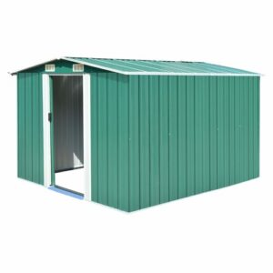 Mcsherry 8 ft. W x 10 ft. D Metal Garden Shed Sol 72 Outdoor Colour: Green