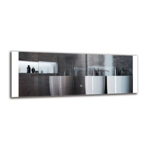 Merrimack Bathroom Mirror Metro Lane Size: 40cm H x 110cm W