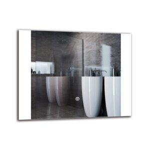 Merrimack Bathroom Mirror Metro Lane Size: 40cm H x 50cm W