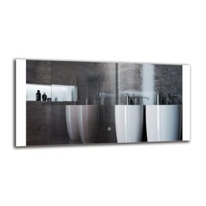 Merrimack Bathroom Mirror Metro Lane Size: 50cm H x 100cm W