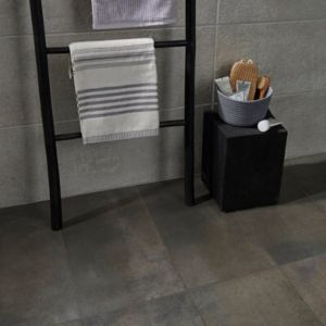 Metal ID Light grey Matt Concrete effect Porcelain Floor Tile Sample